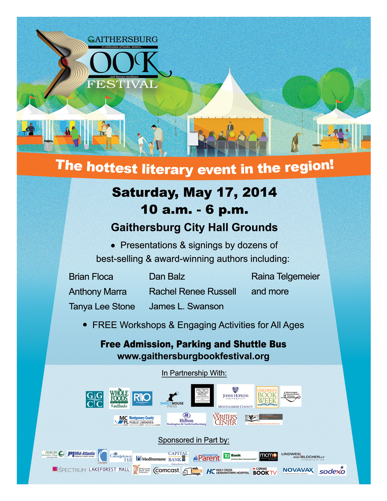 spread the word printable gbf flyers gaithersburg book festival